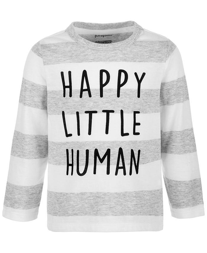 First Impressions - Baby Boys Happy Little Human Long-Sleeve T-Shirt
