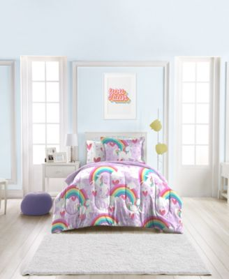 Unicorn Rainbow 7-Piece Full Bedding Set