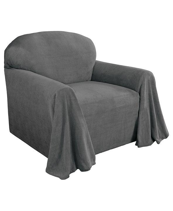 P/Kaufmann Home Coral Fleece Throw Chair Cover