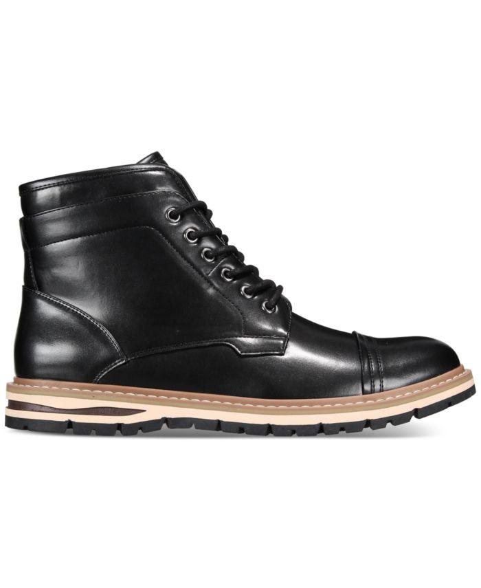 Alfani Men's Travis Cap-Toe Lace-Up Boots, Created for Macy's  & Reviews - All Men's Shoes - Men - Macy's