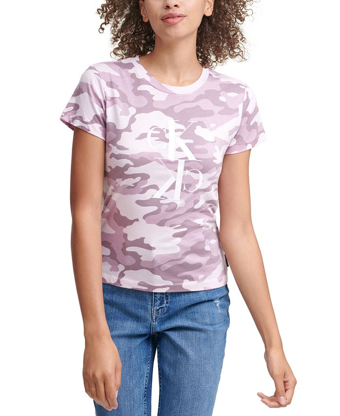 Calvin Klein Jeans - Camo-Print Logo T-Shirt