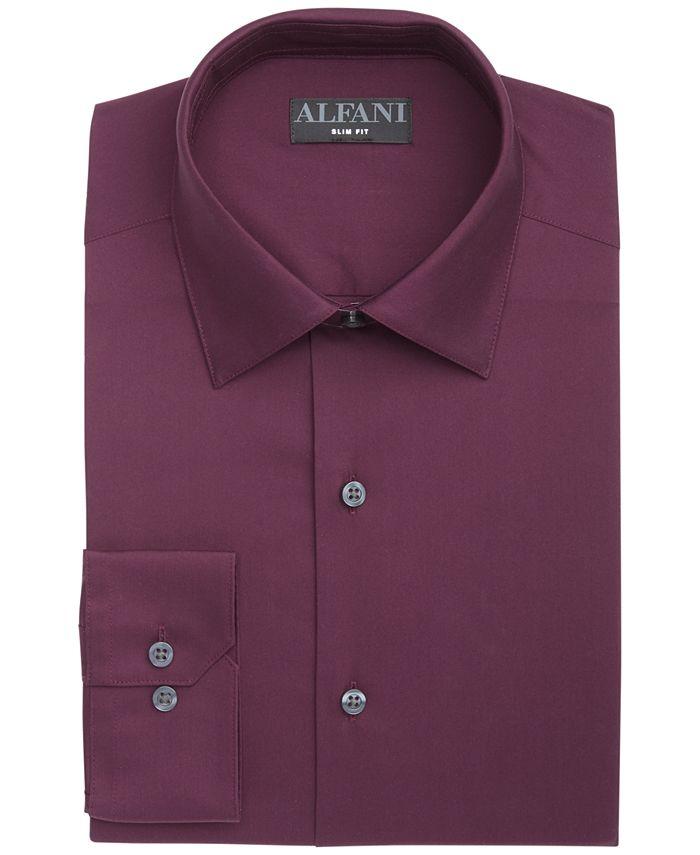 Alfani - Men's Slim-Fit Performance Stretch Solid Dress Shirt