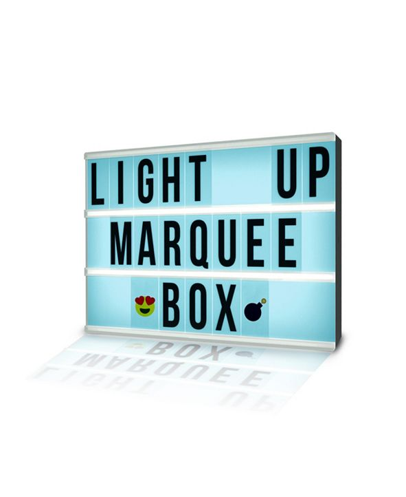 Tzumi Aura LED Multi-Color Light Up Marquee Box with Remote, Alphabet, Symbols, Numbers, and Emojis
