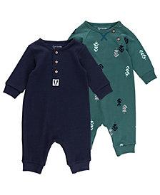 Mac & Moon Baby Boy 2pk Unionsuits