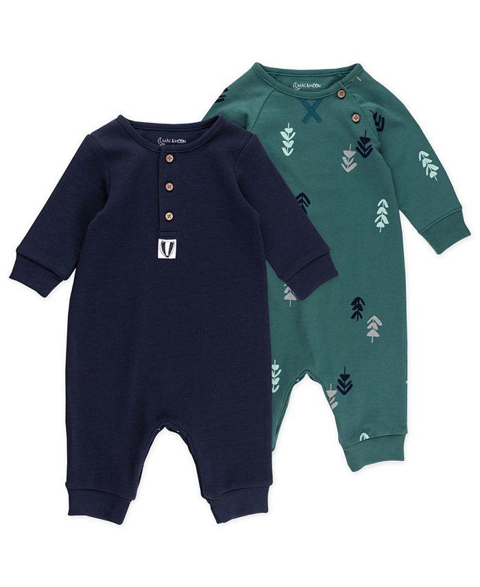 Mac & Moon - Baby Boy 2pk Unionsuits