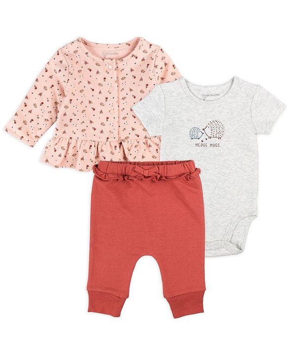 Mac & Moon Baby Girl 3pc Jacket Set