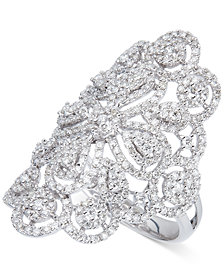 Diamond Filigree Statement Ring (1-3/5 ct. t.w.) in 14k White Gold