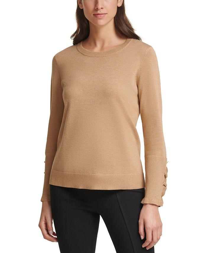 Calvin Klein - Ruffle-Sleeve Sweater