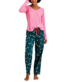 Jenni Ribbed Hacci Pajama Top & Pajama Pants Separates, Created for Macy's