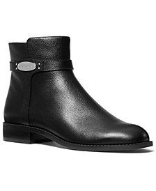 MICHAEL Michael Kors Finley Flat Leather Booties