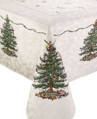 Christmas Tree Ivory/Green 60x120 Tablecloth
