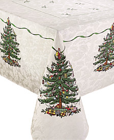 Spode Christmas Tree Ivory/Green 60x120 Tablecloth