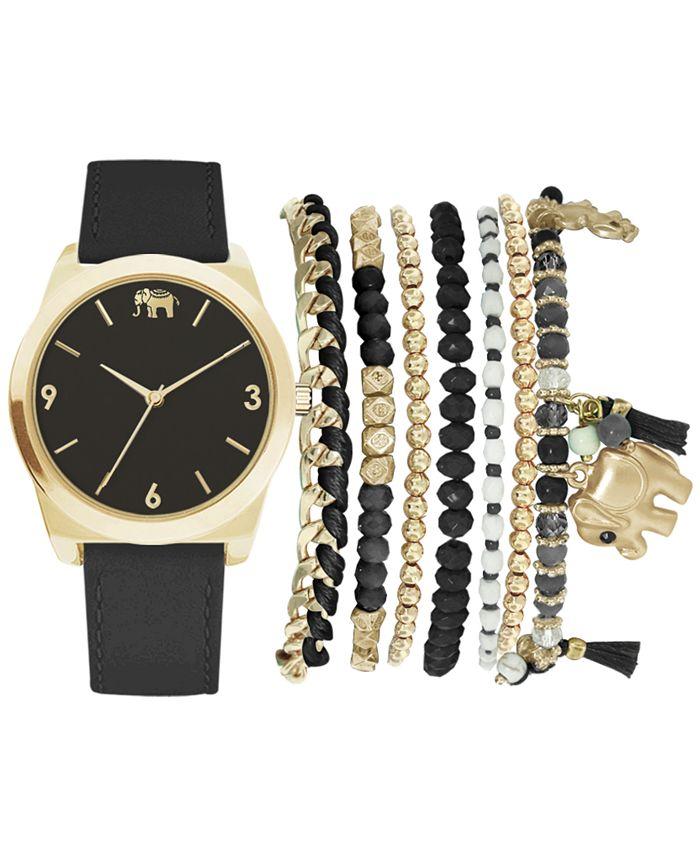 Jessica Carlyle - Women's Black Polyurethane Strap Watch 36mm