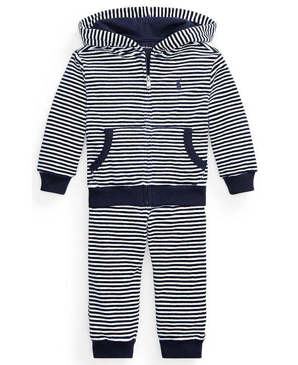 Polo Ralph Lauren Ralph Lauren Baby Boys Velour Hoodie & Pant Set