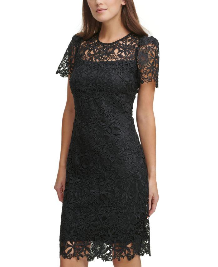 Calvin Klein Lace Sheath Dress & Reviews - Dresses - Women - Macy's