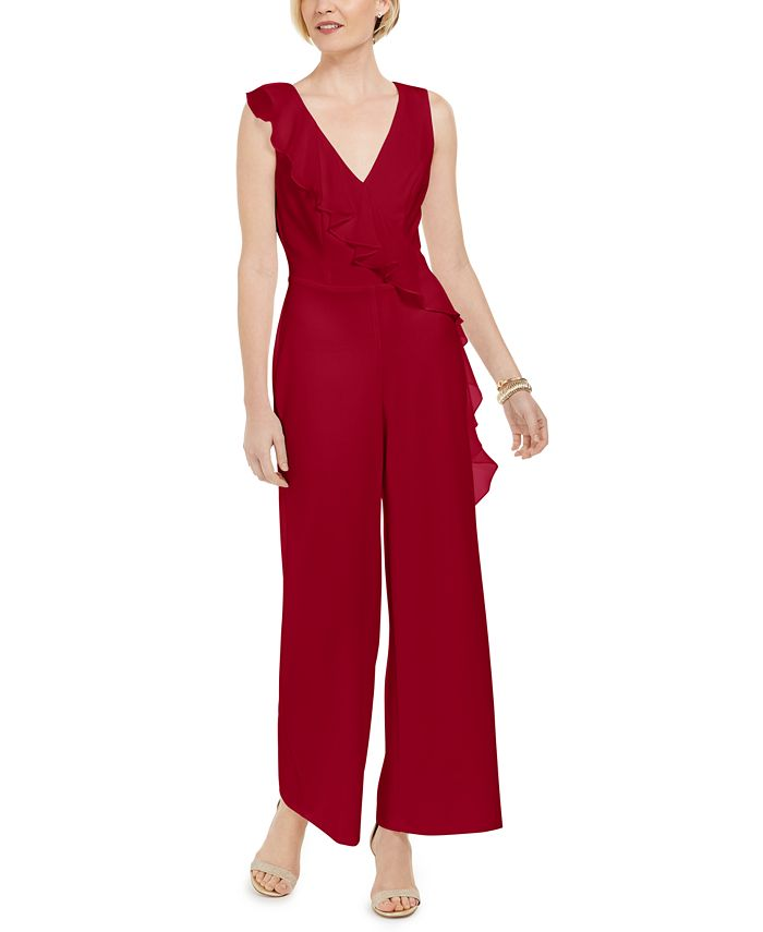 Connected - Petite Ruffled Jumpsuit