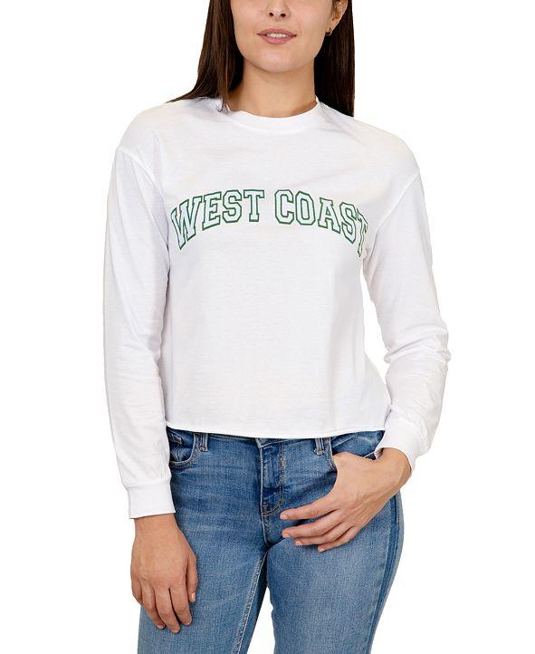 Rebellious One Juniors West Coast Cotton Long-Sleeve Top