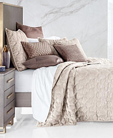 Hotel Collection Contour Velvet King Coverlet, Created for Macy's