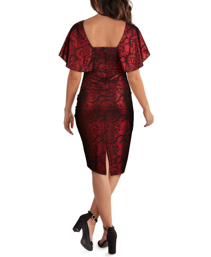 Kensie Cape-Sleeve Jacquard Dress & Reviews - Dresses - Women - Macy's