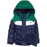 Deals on CB Sports Big Boys Chevron Puffer Coat