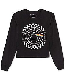 Love Tribe Juniors' Pink Floyd Long-Sleeved Graphic T-Shirt