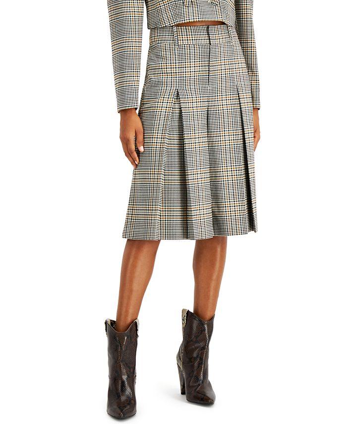 INC International Concepts - Pleated Plaid Gaucho Pants