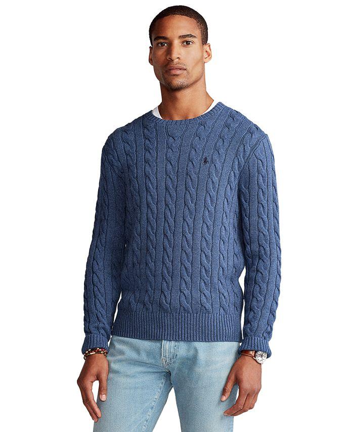 Men's Cable-Knit Cotton Sweater