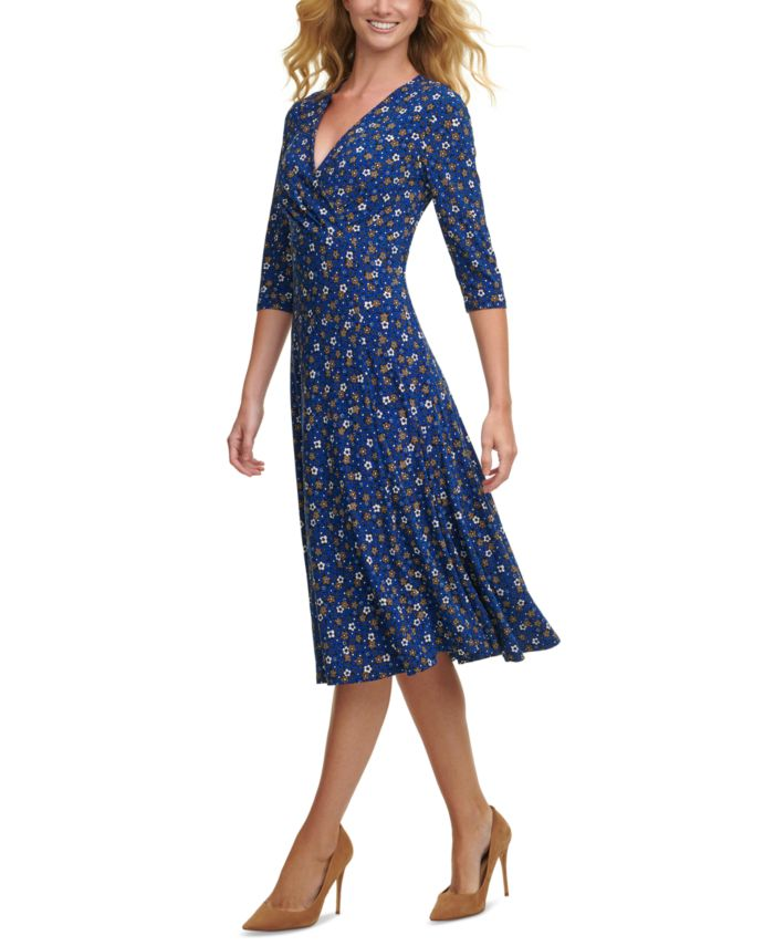 Tommy Hilfiger Printed Midi Dress & Reviews - Dresses - Women - Macy's