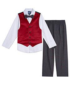 Nautica Baby Boy Red Velvet Vest Set