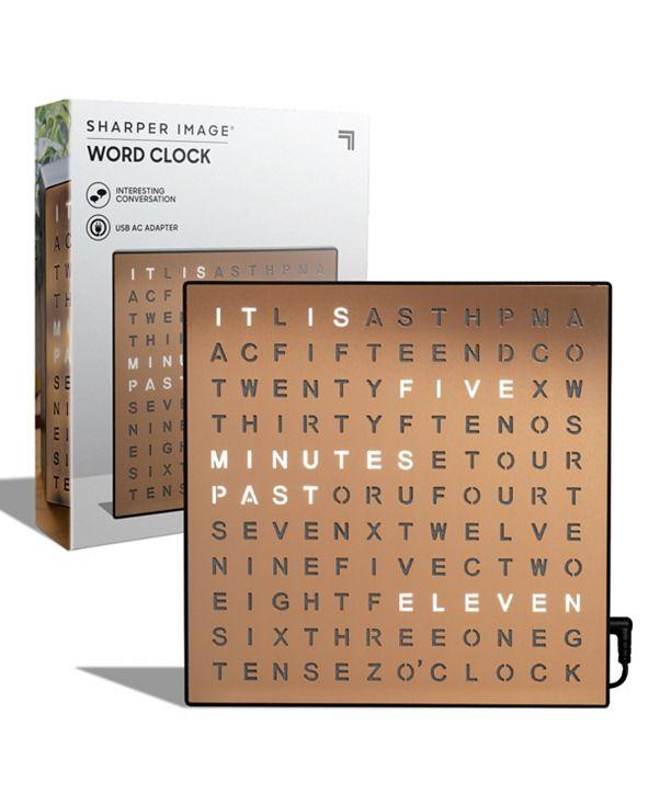 Sharper Image Table Top LED Word Clock