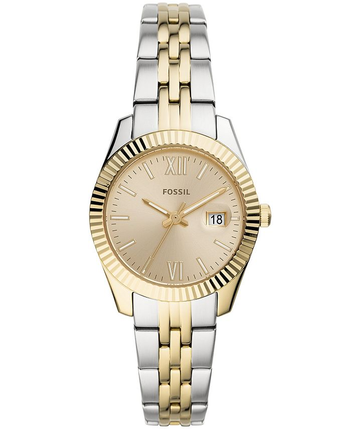 Fossil - Women's Scarlette Mini Two-Tone Two-Tone Bracelet Watch 32mm