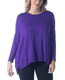 Women's Plus Size Oversized Long Sleeves Dolman Top