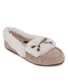 Nautica Clearwater Fold Faux Fur Slippers
