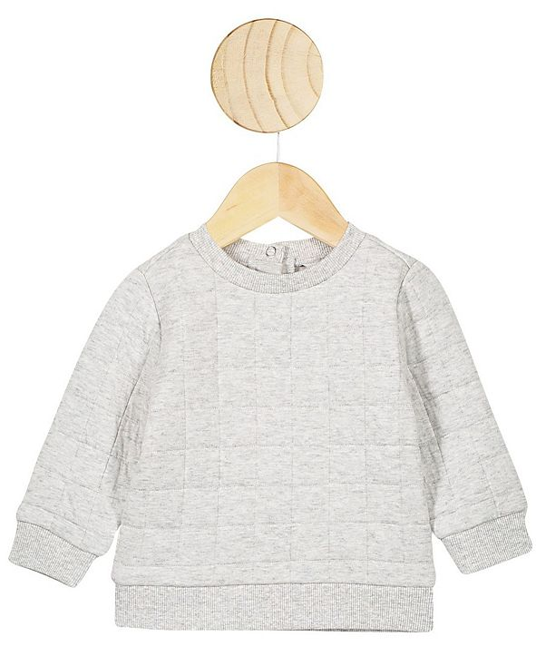 COTTON ON Baby Boys and Girls Scout Quilted Sweater