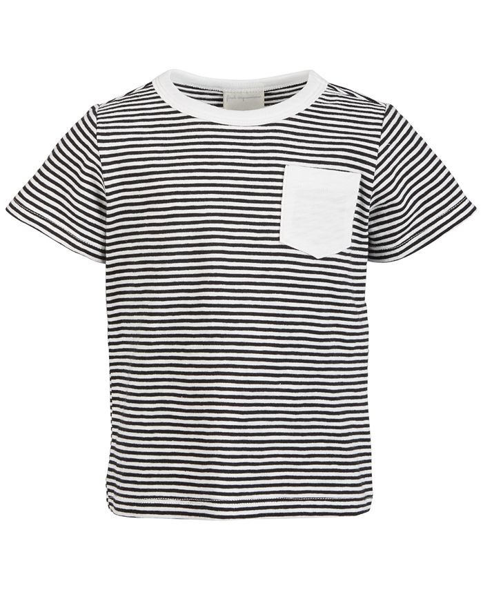 First Impressions - Baby Boys Striped Pocket Cotton T-Shirt