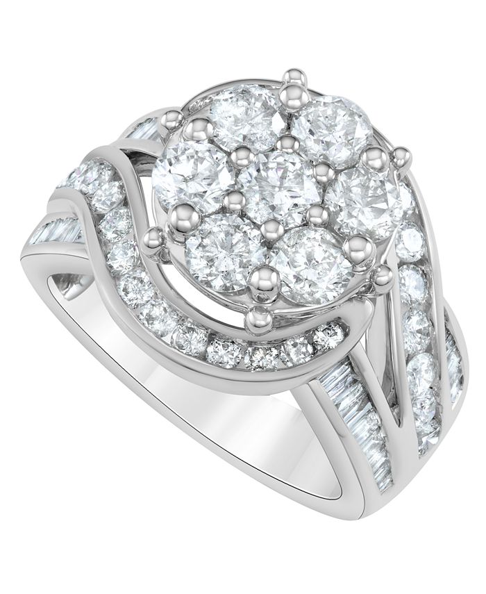Macy's - Diamond Engagement Ring (3 ct. t.w.) in 14K White Gold