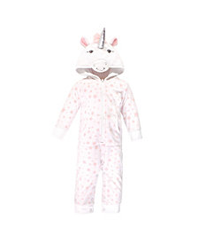 Hudson Baby Boys and Girls Fleece Jumpsuits, Coveralls, and Playsuits