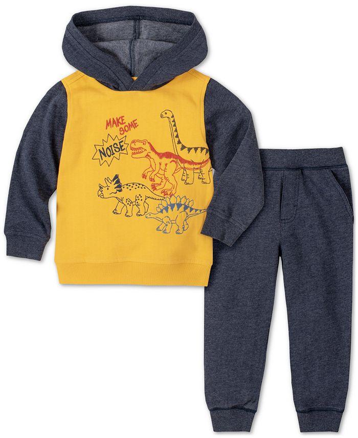Kids Headquarters - Baby Boys 2-Pc. Dino Hoodie & Pants Set