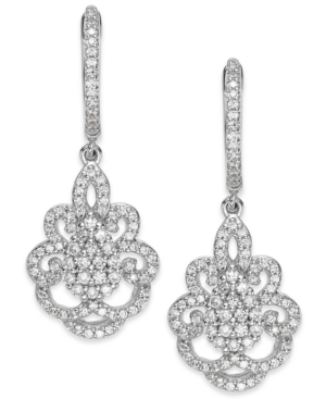 Wrapped in Love Diamond Victorian Drop Earrings in 14k White Gold 1 ct. t.w. $1,281.99 AT vintagedancer.com