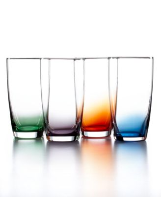 The Cellar Set of 4 Assorted Color Tall Tumblers