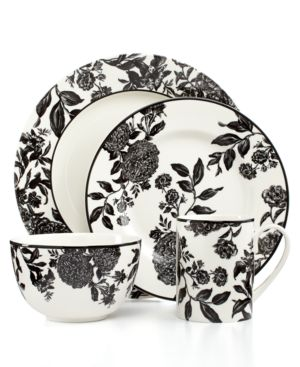 Martha Stewart Collection Orleans Black 4-Piece Place Setting