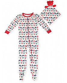 Max & Olivia Baby Boys Holiday Coverall with Blankie Baby