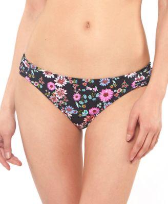 Posy Fields Side-Shirred Hipster Bikini Bottom