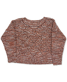 FULL CIRCLE TRENDS Trendy Plus Size Ballet-Neck Sweater