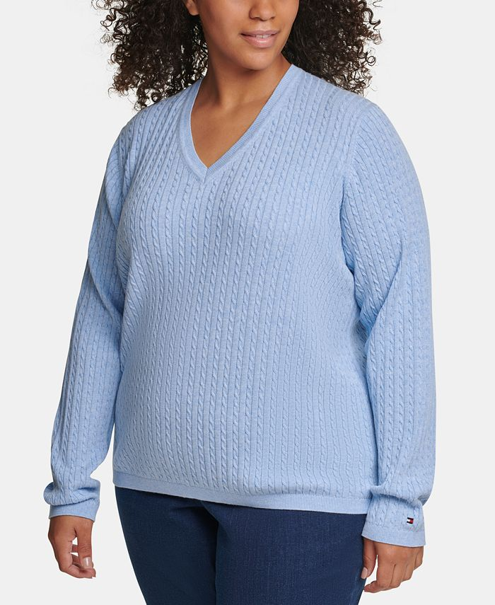 Tommy Hilfiger - Plus Size Cotton Cable-Knit Sweater