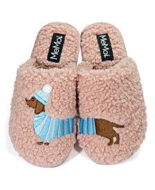 Plush Dachshund Women's Slippers