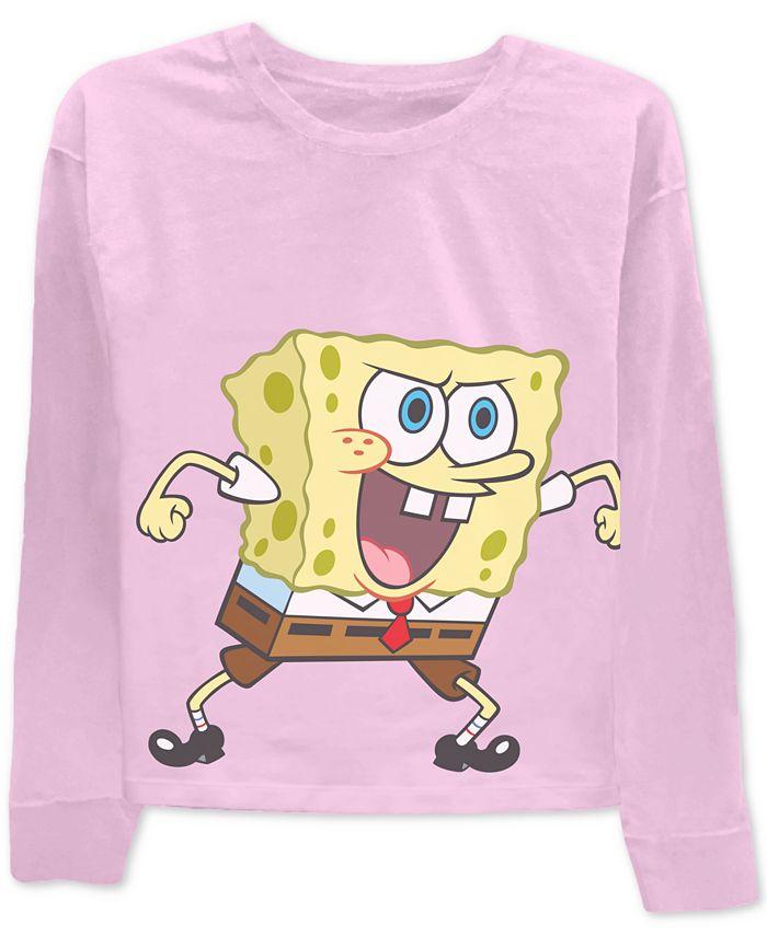 Nickelodeon - Juniors' Spongebob Long-Sleeved Graphic T-Shirt