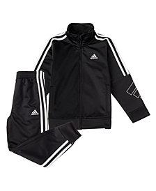 adidas Baby Boys Zip Front Tricot Jacket and Jogger Pants Set