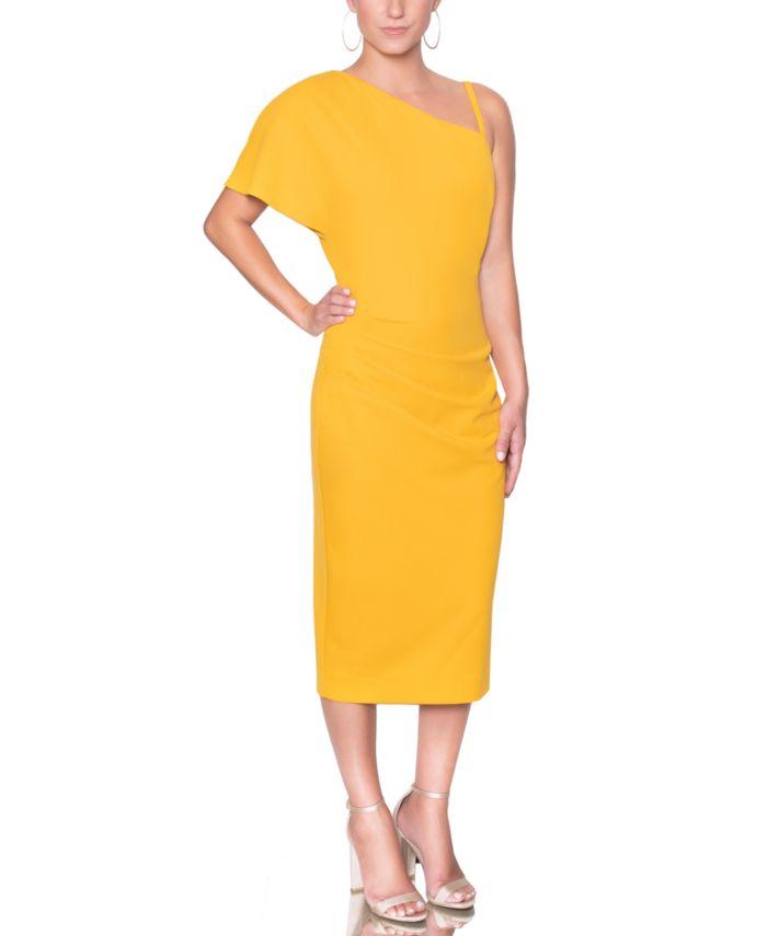 Christian Siriano New York One-Shoulder Sheath Dress & Reviews - Dresses - Women - Macy's