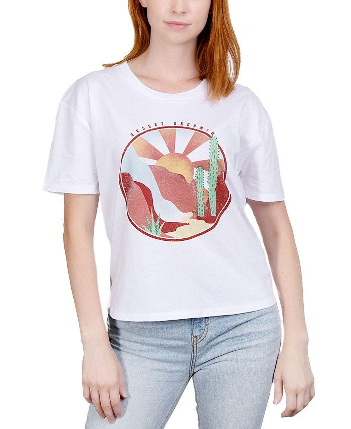 Rebellious One - Juniors' Desert Graphic T-Shirt